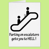 escalator farts get you to hell card