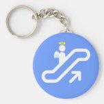 Escalator to Heaven! Basic Round Button Keychain