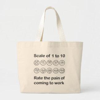 Escale el dolor bolsa tela grande