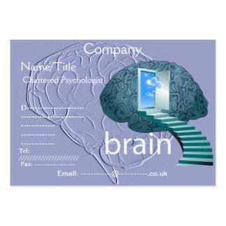 Escalera a la tarjeta de visita del cerebro