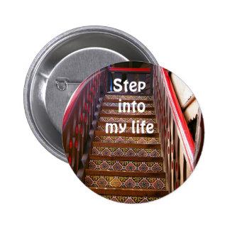 Escalera a mi botón del heart pin