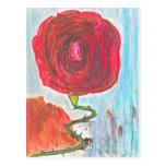 Escalera a un color de rosa postales