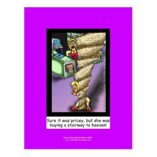Escalera al dibujo animado de la parodia del cielo tarjetas postales