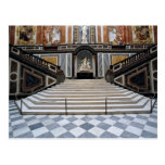 Escalera, castillo de Herrenchiemsea, Baviera, Ale Postales
