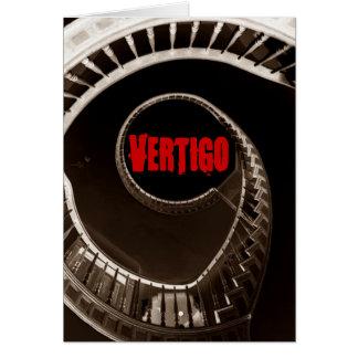 Escalera circular oscura del vértigo de Hitchcock- Tarjeta De Felicitación