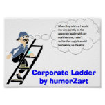 Escalera corporativa por el humorZart Poster