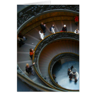 escalera de la circular de vatican tarjeta de felicitación