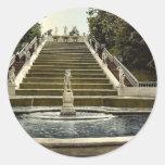 Escalera de oro de Peterhof, clas de St Pegatina Redonda