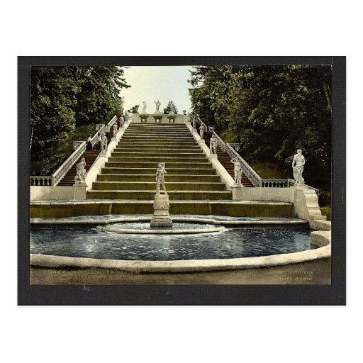 Escalera de oro de Peterhof, clas de St Petersburg Postales