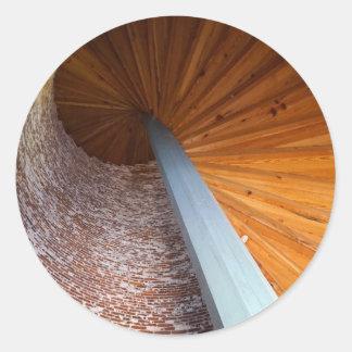 Escalera de Sapelo Pegatina Redonda