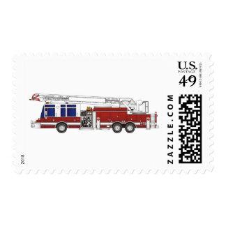 Escalera del coche de bomberos sello