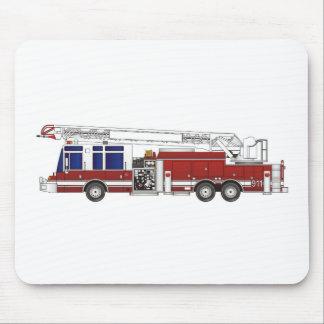 Escalera del coche de bomberos tapetes de ratón
