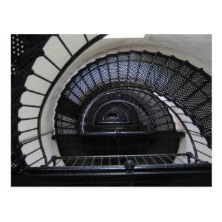 Escalera del faro de la isla de Bodie Tarjeta Postal