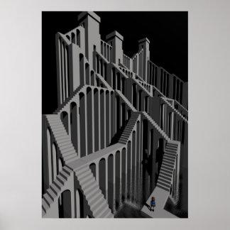 Escalera del laberinto, poster