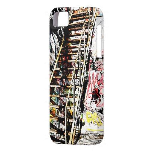 escalera del metal con la pared de la pintada funda para iPhone SE/5/5s
