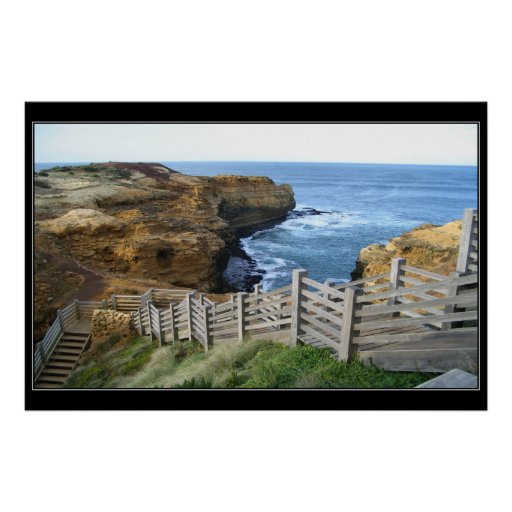 Escalera del océano póster