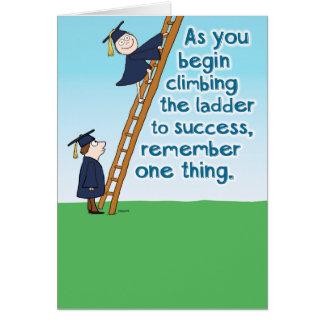 Escalera divertida de la tarjeta de la graduación