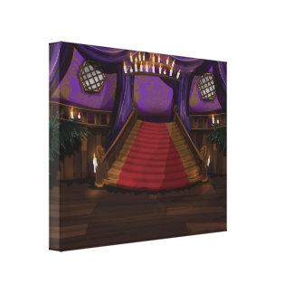 Escalera espeluznante de la mansión impresión en lienzo