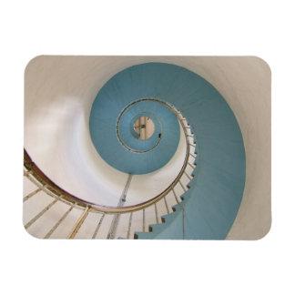 Escalera espiral del faro de Lyngvik Imán De Vinilo