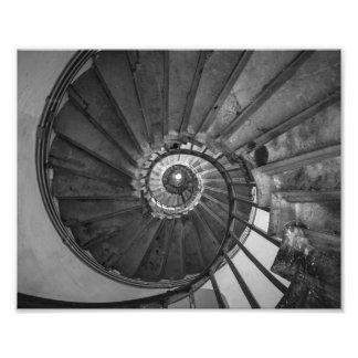 Escalera espiral del monumento fotografía