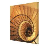 Escalera espiral lienzo envuelto para galerias