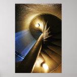 escalera espiral posters