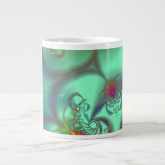 Escalera Jeweled - caleidoscopio esmeralda abstrac Tazas Jumbo