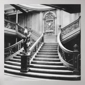 Escalera magnífica titánica póster
