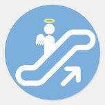 Escalera móvil, ninguna escalera pegatina redonda