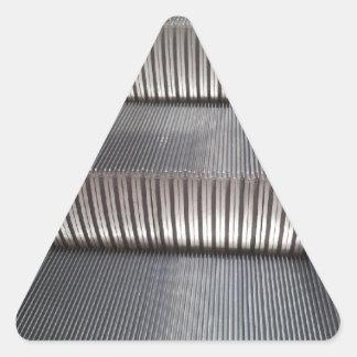 Escalera móvil pegatina triangular