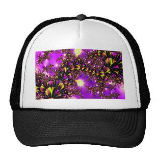 Escalera púrpura del fractal al cielo gorras de camionero