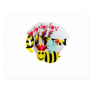 escalera real de las abejas reinas postales