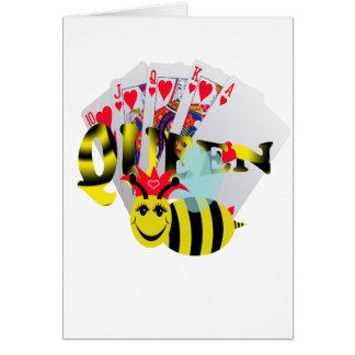 escalera real de las abejas reinas tarjeta de felicitación