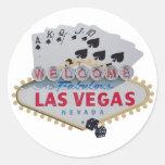 Escalera real de Las Vegas con el pegatina de los