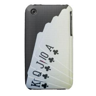 Escalera real del club iPhone 3 Case-Mate cobertura