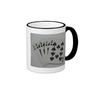 Escalera real taza de café