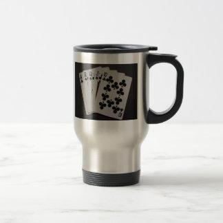 Escalera real tazas de café