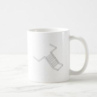Escalera reforzada del hormigón del cemento taza de café
