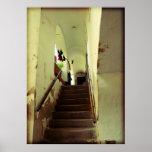 Escalera romántica en Keszthely, Hungría Póster