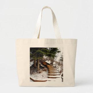 Escalera serena bolsas lienzo