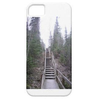 Escaleras a través de las maderas iPhone 5 funda
