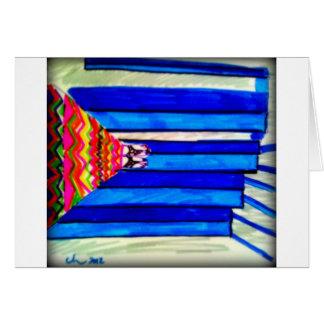Escaleras azules en los pinos de Torrey, San Diego Tarjeta De Felicitación