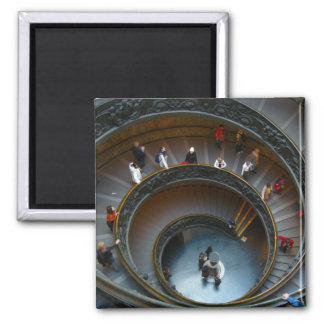 escaleras circulares de vatican imán cuadrado