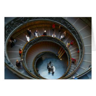 escaleras circulares de vatican tarjeta de felicitación