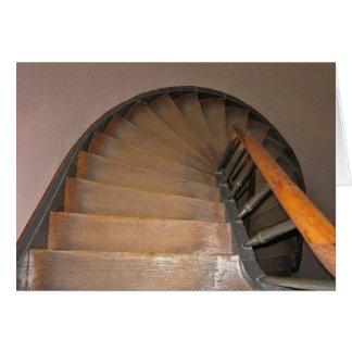 Escaleras circulares del Pub en Gante, Bélgica Tarjeta Pequeña