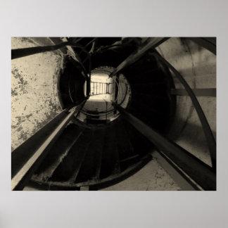 Escaleras circulares póster