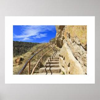 Escaleras de Bandelier Poster
