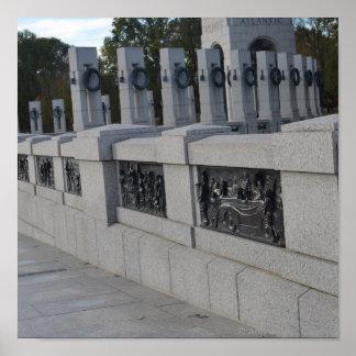 Escaleras de Entrace al monumento de WWII Posters