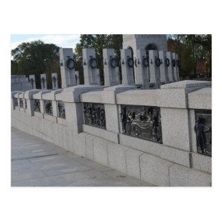 Escaleras de Entrace al monumento de WWII Tarjeta Postal