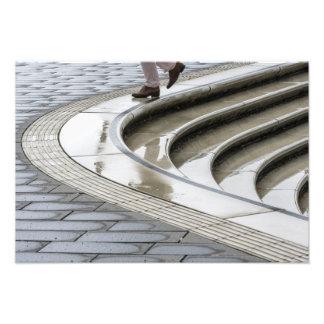 escaleras de la lluvia cojinete